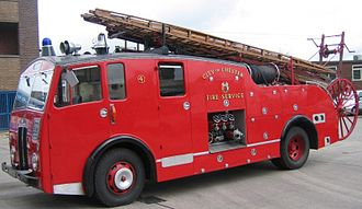 Cheshire Fire and Rescue Service - The City of Chester Dennis F7 entered service in 1949.