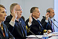 Deputy Defense Secretary Bob Work, left, Navy Adm. James A. Winnefeld Jr., vice chairman of the Joint Chiefs of Staff, and Michael J. McCord, the Defense Department's comptroller, testify on the fiscal year 201 140717-D-KC128-010e.jpg