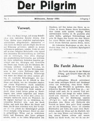 Conrad C. Binkele - Der Pilgrim, published in 1931-1934