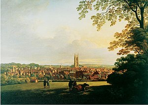 Thomas Christopher Hofland - Derby from a Field adjoining Abbey Barns by Hofland
