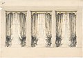 Design for Three Sets of Gray Curtains , with Gray and Gold Pediments MET DP807407.jpg