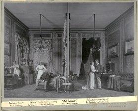 Det ringer! Dramatiska teatern 1900. Föreställningsbild - SMV - H12 031.tif