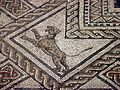 Detail of Mosaic in-situ (232 sq.m) of one of the basilica rooms, Roman Grand (Andesina), France (7692888954).jpg