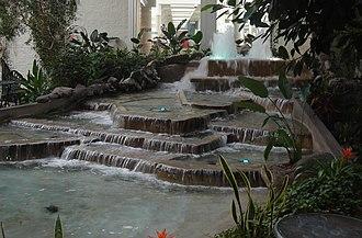 Devonian Gardens (Calgary) - Image: Devonian Gardens Calgary waterfall