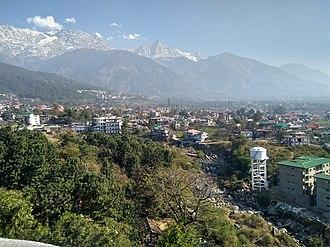 Dharamshala - Dhauladhar mountain range from Dharamshala, Himachal Pradesh