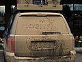 Did the Dempster etched into caked-on mud on vehicle, Fairbanks, Alaska.jpg