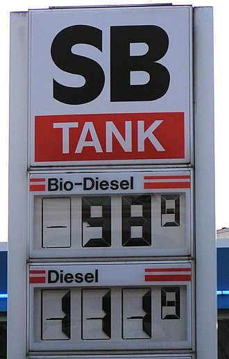 Vegetable oils as alternative energy - In some countries, filling stations sell bio-diesel more cheaply than conventional diesel.