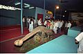 Dignitaries Watching Ankylosaurus - Dinosaurs Alive Exhibition - Science City - Calcutta 1995-06-15 028.JPG