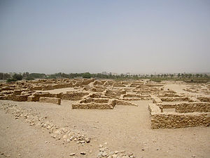 Dilmun - Ruins of a settlement, believed to be from the Dilmun civilization, in Sar, Bahrain