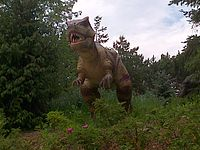 An animatronic dinosaur at Canada's Wonderland