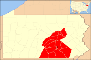Roman Catholic Diocese of Harrisburg - Image: Diocese of Harrisburg map 1