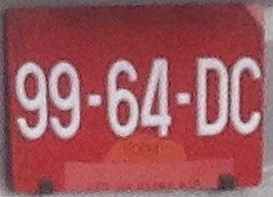 Vehicle registration plates of Malaysia - A Malaysian plate for a Yemeni diplomatic vehicle.