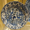 Dish copying a Chinese landscape with deer, black seal-mark on base, Iran, Isfahan, early 17th century, underglaze-painted stonepaste - Royal Ontario Museum - DSC04814.JPG
