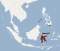 Distribution of Mops sarasinorum.png