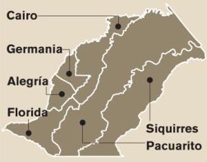 Siquirres (canton) - Districts of Siquirres canton