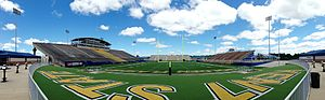 Kent State Golden Flashes football - Dix Stadium from the south end zone, 2014