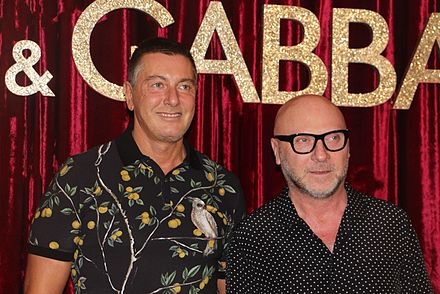 Stefano Gabbana (left) and Domenico Dolce (right) in 2016 ded659dbe3c29