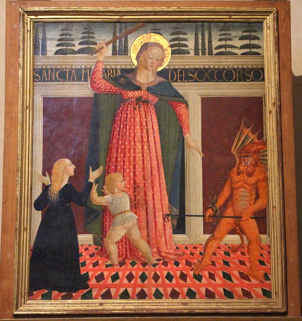 Cappella Velluti, Domenico di Zanobi, Madonna del Soccorso, ante 1485