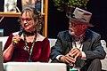 Donna Maree Hanson and John Purcell talking at the Hugo Award Ceremoy at Worldcon in Helsinki.jpg