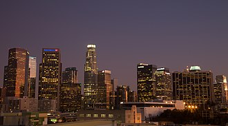 We R Who We R - An overview image of Downtown Los Angeles, where the video was initially filmed over a 48-hour period