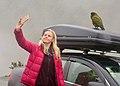 Dr Victoria Metcalf at Arthurs Pass with a Kea.jpg