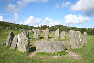 Stone circle - Drombeg stone circle - County Cork, Ireland.