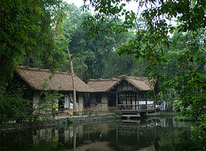 Sichuanese garden - Image: Du Fu Thatched Cottage Garden