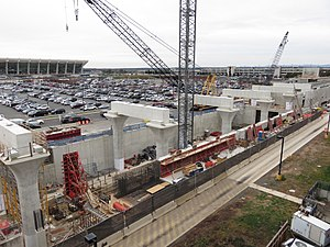 Dulles International Airport station - Image: Dulles International Airport Metro construction 2016b
