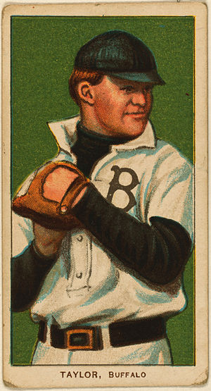 Dummy Taylor - Taylor's baseball card from his time on the Bisons (T206 set)