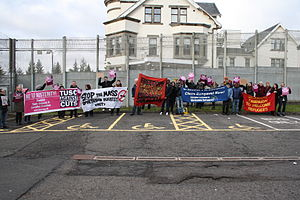 Dungavel - Protests against Dungavel Detention Centre.