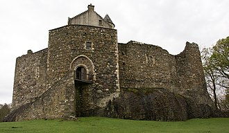 "Warfare in Medieval Scotland - Dunstaffnage Castle, one of the oldest surviving ""castles of enceinte"", mostly dating from the thirteenth century"