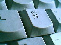 Letra Ñ en un teclado