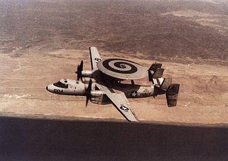 VAW-123 - VAW-123 E-2C in flight 1991