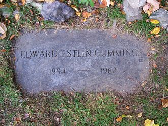 1962 in poetry - Grave of E. E. Cummings