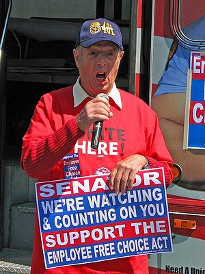Employee Free Choice Act - Pennsylvania labor leader Sam Bianco at a rally in Wilkes-Barre, Pennsylvania, calling on Arlen Specter to support the EFCA.