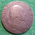 ENGLAND, WILLEY, SNEDSHILL, BERSHAM, BRADLEY-JOHN WILKINSON IRONMASTER HALFPENNY TOKEN 1790 a - Flickr - woody1778a.jpg