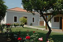 neo-classical house at Eretria