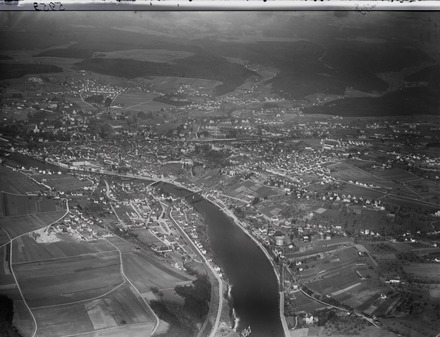 Aerial view from 500 m by Walter Mittelholzer (1929)