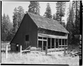 EXTERIOR, SOUTHEAST VIEW - George Meyer Barn No. 1, Old Coulterville Road, Foresta, Mariposa County, CA HABS CAL,22-FOR.V,1-A-3.tif