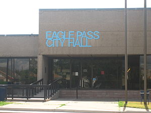 Eagle Pass, Texas - Image: Eagle Pass City Hall IMG 0265