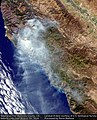 Earth from Space Soberanes Fire, Monterey County, CA, USA August 7th (28786471601).jpg