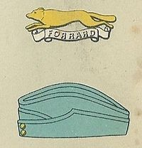 East Riding Yeomanry badge and service cap.jpg