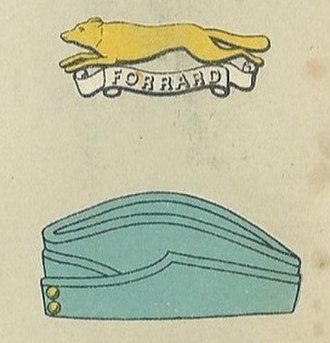 East Riding of Yorkshire Yeomanry - Badge and service cap as worn at the outbreak of World War II