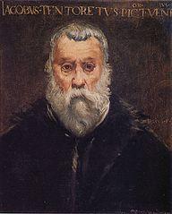 Copie du portrait du Tintoret par lui-même