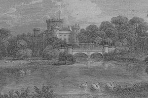 Eglinton Tournament Bridge - The 'old' Tournament Bridge converted artificially to two arches, etc. for comparison.