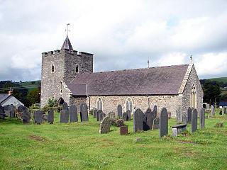 Llanilar village in the United Kingdom