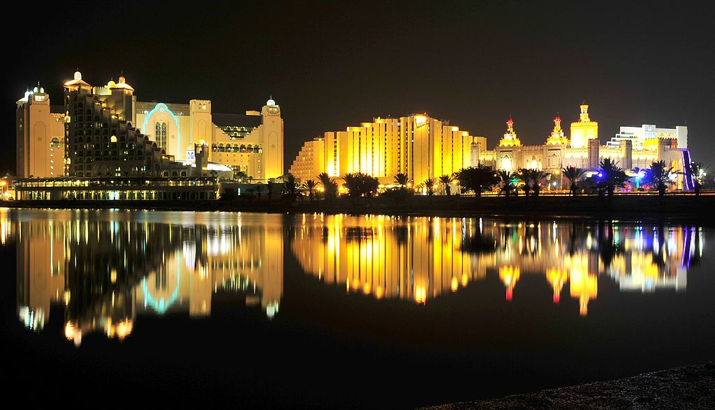 Eilat night hotels 2016.jpg