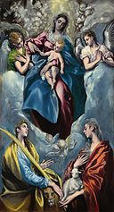 El Greco - Madonna and Child with Saint Martina and Saint Agnes (NGA).jpg