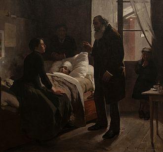 Arturo Michelena - Image: El niño enfermo. Paris 1886 by Arturo Michelena