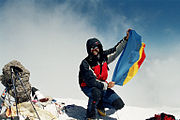 Elbrus west, Romanian flag 11.08.2007